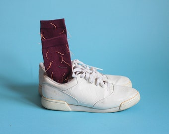 cactus socks, hand embroidered