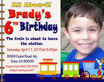 Train Party Invitation, Trains Invitation, Train birthday, chalkboard invitation, printable