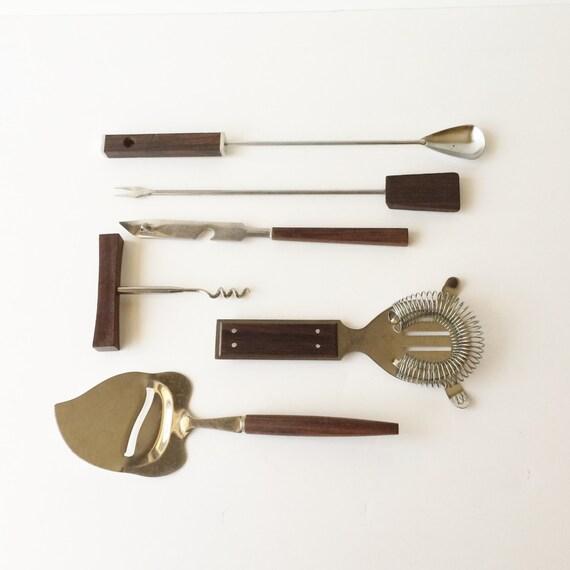 Vintage Mid Century Retro Bar Tools Mix And Match Barware