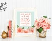 INSTANT DOWNLOAD, 1 Corinthians 4:7, Scripture Art, Watercolor Flowers, Printable, No. 562