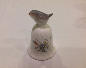 Cute Genuine Bone China Bell With Bird on Top
