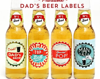 PRINTABLE Fathers Day Beer Bottle labels and gift tags