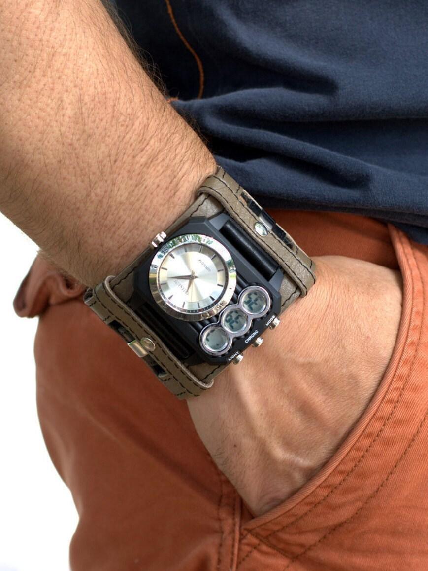 Leather Cuff Watch Mens Wrist Watch Leather Men's watch |Wrist Watch For Men Leather