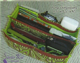 The Encore Purse Insert, Studio Kat Designs, Organizer for Purses and Bags, DIY Pattern