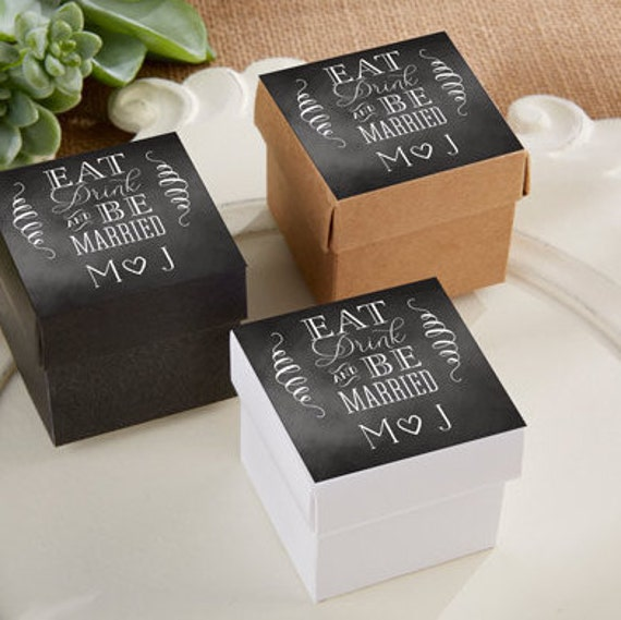 Personalized Favor Boxes Personalized Wedding By MakeSpecially