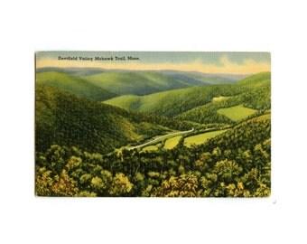 Deerfield Valley Mass Postcard - Mohawk Trail, Massachusetts