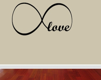Love Infinity Wall Decal Lettering Words Vinyl Quote Decor Sticker Bedroom (J659)