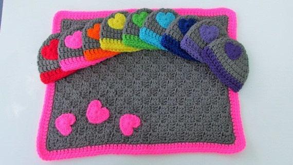 Preemie Blanket Hat Set Micro Preemie Gift Crochet Baby Set