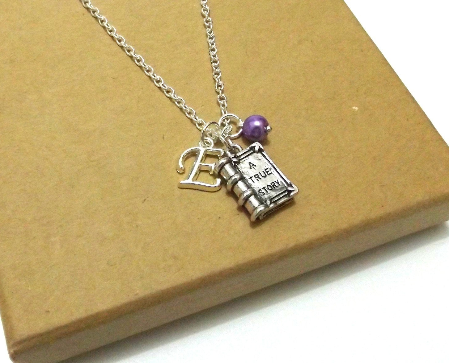 book necklace gift for book charm necklace by