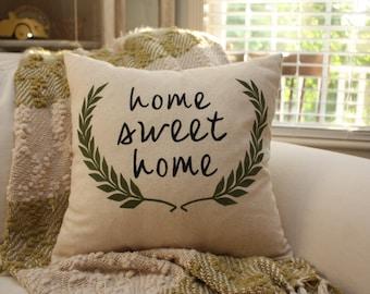 Decorative Pillow - Housewarming Gift / Home Sweet Home Pillow