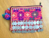 Nerea coin clutch OOAK Afghani gypsy clutch