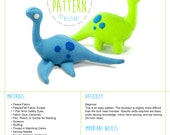 Dinosaur and Loch Ness Monster Stuffed Animal Plush Toy Sewing Pattern