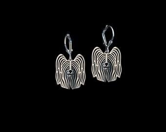 Skye Terrier earrings - sterling silver.