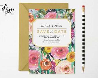 Botanical Save the Date | Floral Wedding Shower Invitation