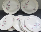 Canonsburg Wild Clover Pattern Dinner Plates  - 1960s Set of 4 (2 Sets Available)