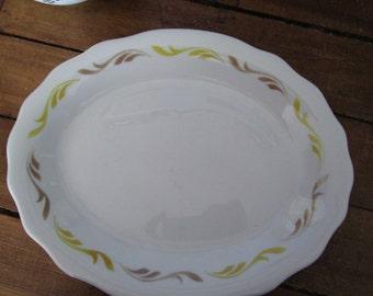 Vintage Scalloped Jackson China Grand Rapids Post Fixture Co Platter Plate Solid Restaurant ware Cottage ChicTVAT Epsteam WLVteam hsh