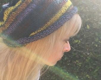 City Lights Stripe Hippie Slouch Hat