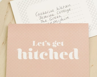 Wedding Proposal Card - Let's Get Hitched