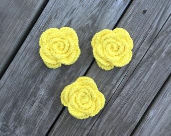 Crochet Face Scrubbies, Yellow Flower Scrubbies, Reusable Cotton Rounds, Facial Scrubbies, Makeup Removers, Eco Friendly Cleansing Pads