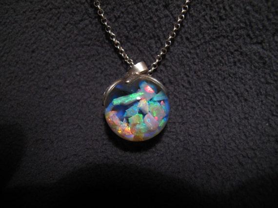 floating opal necklace 6 carats lightning ridge by planetopal