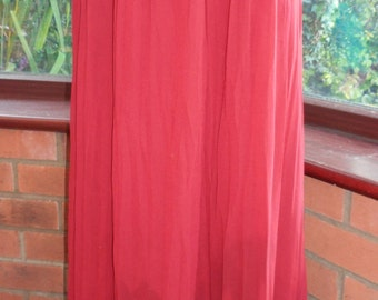 lovely long chiffon maxi skirt evening prom party evening all lined uk size16 - usa size 12