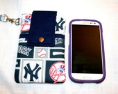 MLB Cell Phone Pouch Bag, and or Cross Body bag, Choose your Team, iPhone6, 6 Plus Bag, Detachable Straps