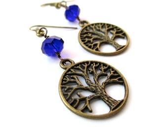 TREE OF LIFE earrings charm earrings family tree jewelry wisdom strength beauty