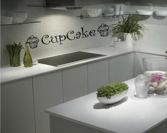 Cupcake - Wall Art Sticker