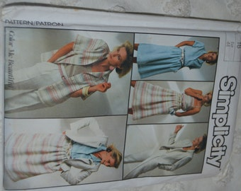 SImplicity 7272 Misses Go Everywhere Pants Skirt Shirt Camisole and Unlined Jacket Sewing Pattern UNCUT Size 16