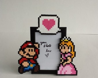 Mario and Princess Peach Picture Frame - Couples Picture Frame