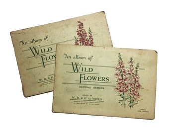 An Album of Wild Flowers First and Second Series cigarette cards book John Player & Sons