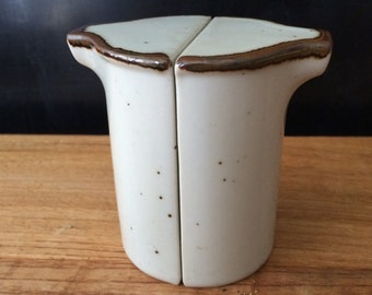 Pair of Modern Speckled Ceramic Salt and Pepper Shakers