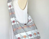 Off White Floral Ethnic Hippie Purse Fashion Crossbody Bag Boho Hobo Messenger Purse SDF105