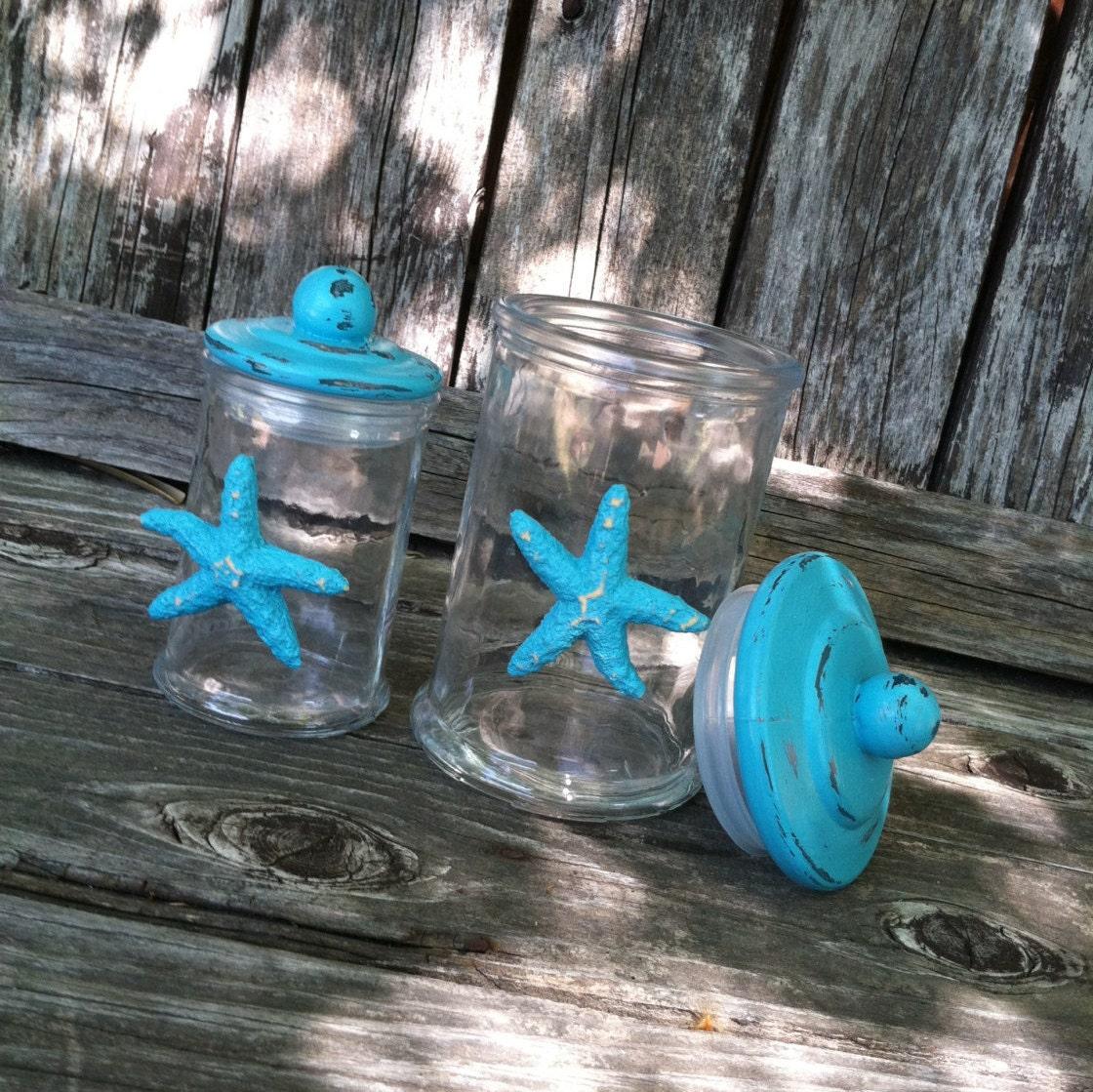 Bathroom decor beach turquoise bath accesories by for Turquoise bath accessories