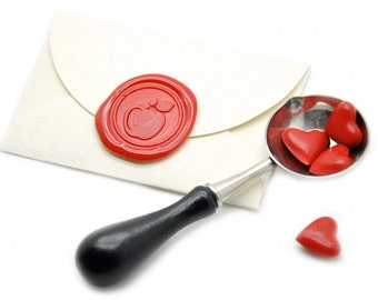 Apple Wax Seal Stickers - Available in 27 Colors