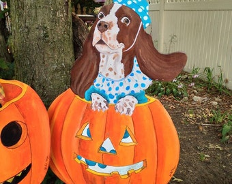 Hand-painted Wooden Halloween Lawn Ornaments!