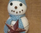 Snowman with Rusty Star