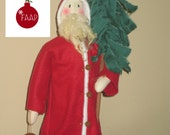 Primitive Santa with a Tree