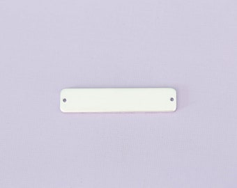 """1.75"""" Long Rounded Rectangle with Two Holes - Aluminum Stamping Blanks - Metal Stamping Blanks - 14g - #268"""