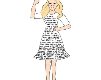Amy Schumer Print - Hand-Illustrated