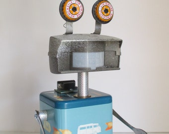 RIBIT- Found object robot sculpture~assemblage
