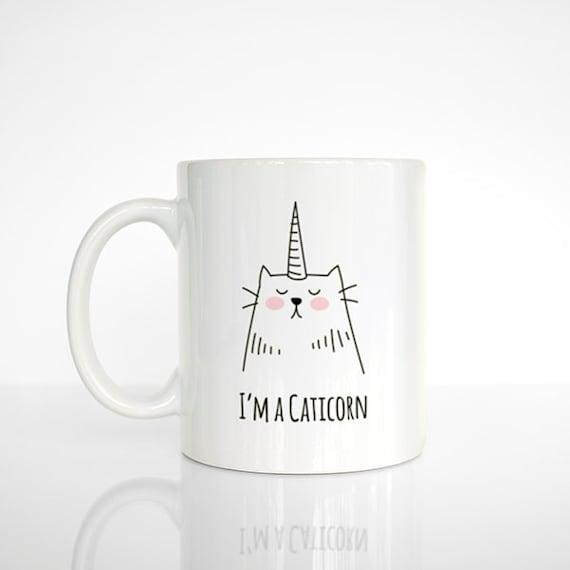 Tasse à café Caticorn, chat Licorne, Mug chat, licorne Mug, Mug drôle, mignon Mug, cadeau café Unique, cadeau amoureux de café, bureau Mug, tasse à café