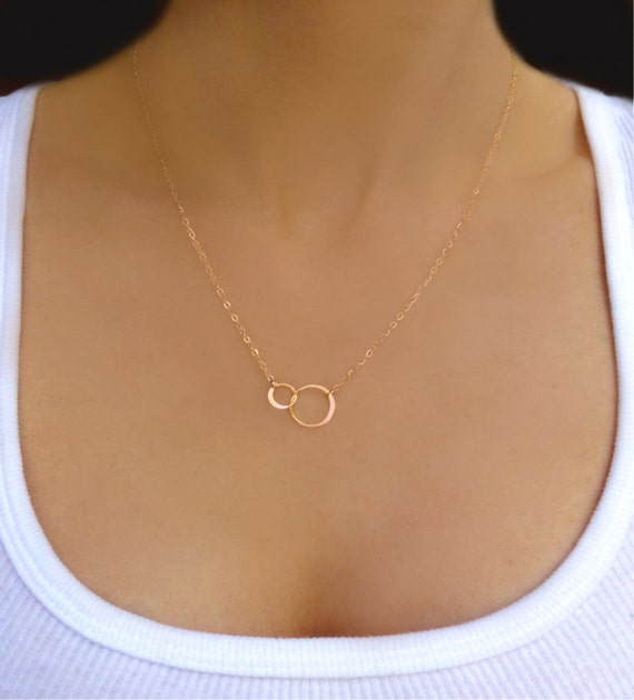 Rose gold infinity necklace gold infinity by glasspalacearts for New mom jewelry tiffany