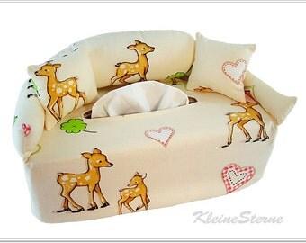 Handkerchief sofa - small deer - sofa tissue box cover