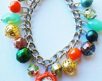 Merida from brave inspired  charm bracelet