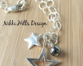 Silver Star Necklace, Star Jewelry, Small Star Necklace, Sterling Silver Delicate Necklace, Everyday Necklace, Gift for Her