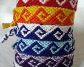 CUSTOM MADE Personalized Friendship Bracelet, Macrame, Woven Bracelet, Wristband, Knotted Bracelet  - Greek Waves