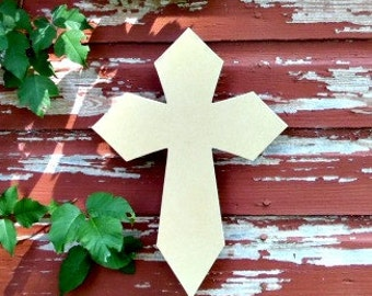 Unfinished MDF Wooden Cross #42