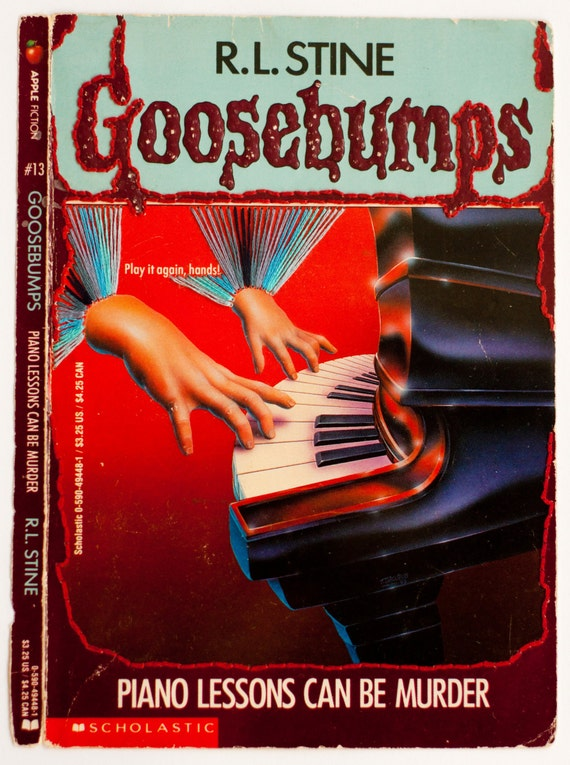 Embroidered Book Cover - Goosebumps: Piano Lessons Can Be Murder