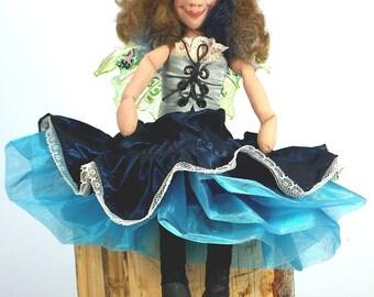 Art Doll-Jacquetta the Urban Faery OOAK Cloth Doll